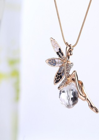 necklace butterfly leather fairy silver antique leather necklace pendant butterfly fairy chain elf elf angel necklace