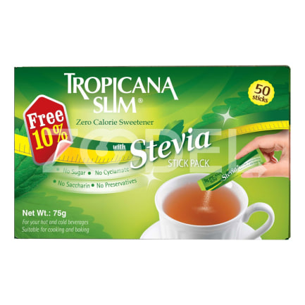 Tropicana Slim Stevia Sweetener 50 Pack
