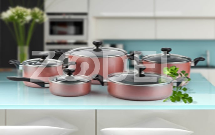 Pot Service 10 pcs Model Sorena Kaj Teflon