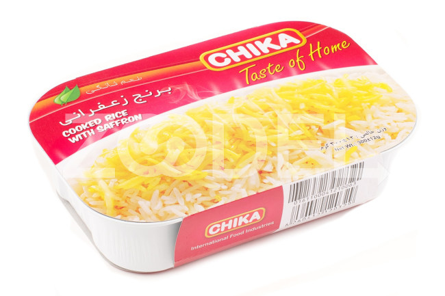 Cooked Rice With Saffron 300 gr Chika