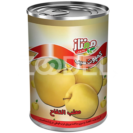 Canned Apple Easy Open Can 380 g Momtaz Razavi Company