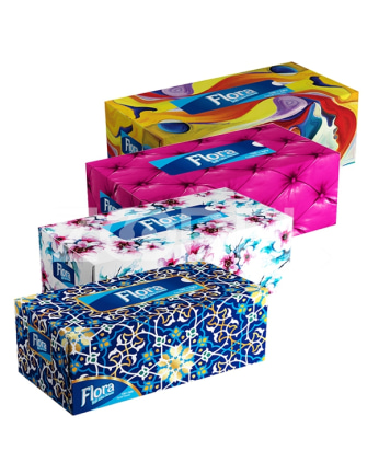 300 Papers Tissue In 12 Different DesignsFlora Brand