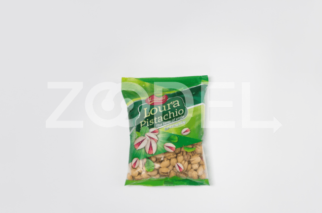 Pistachio Roasted Salted In Cellophane Packages 250 Gr Loura Brand