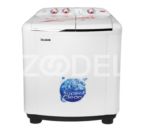 Twin Washing Machine Semi Automatic Capacity 7 Kg Dimensions 970 ×490 × 830 mm With Lint Filter And Special Antiwrinkle Rollers Barfan Brand Model WM 900