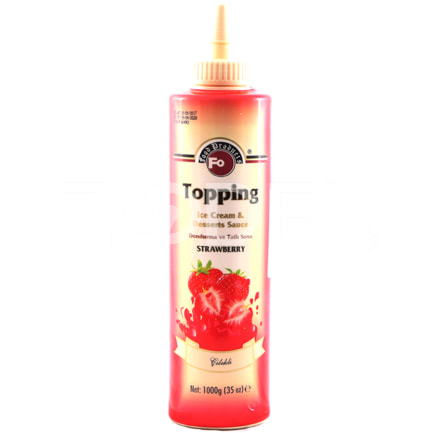 Topping Sauce Flavored Strawberry 1 kg Fo