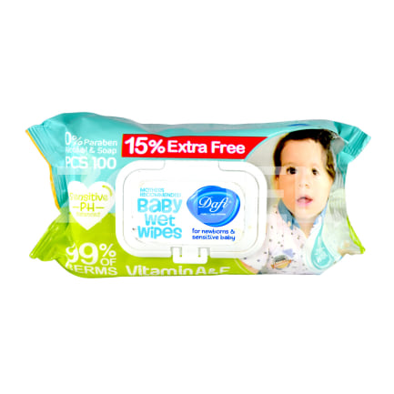 Baby Wet Wipes 100 Pcs Dafi Brand