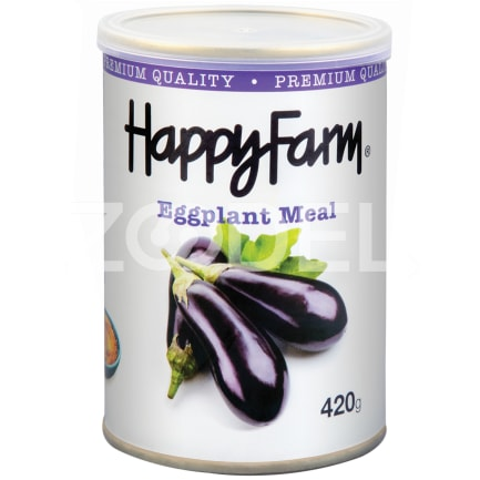 Canned Eggplant Meal 420 g Can Happy Farm Brand