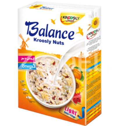 Breakfast Cereal Balance Nuts 500 gr Krcoosly Shahab Energy Sobh