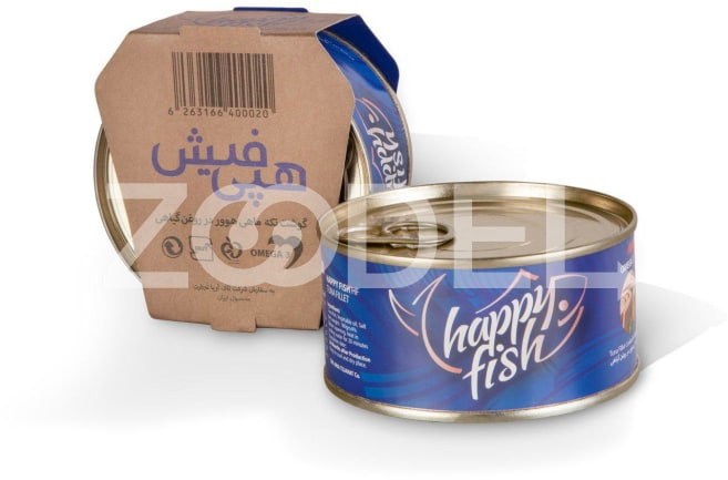 Canned Tuna Fish In Vegetable Oil 180 gr Happy Fish