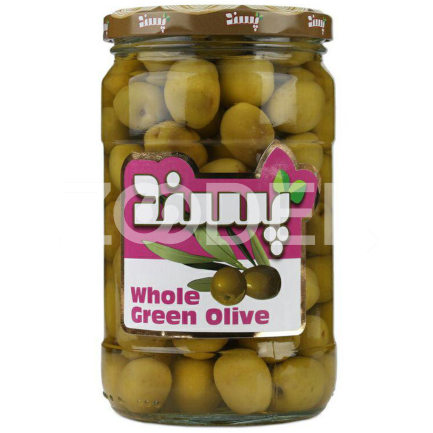 Persian Olive Special Whole With Seed 660 g In Glass Jar Pasand Brand