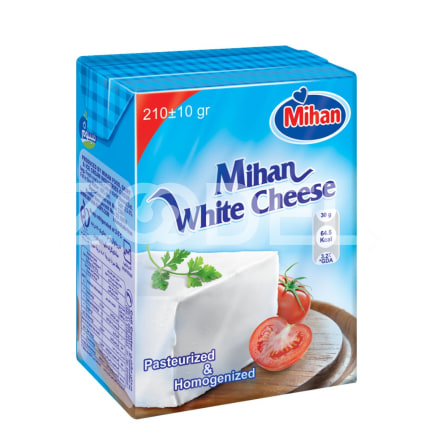 Iranian White Cheese Tetrapack Package 210g Homeland
