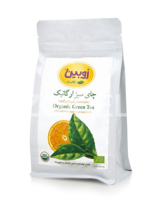 Green Tea with Dried Orange 100 g Package Zubin Brand