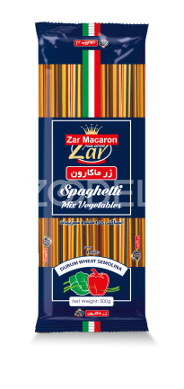 Bucatini Pasta Vegetable Flavored 500g Pack Zar Macaron Brand