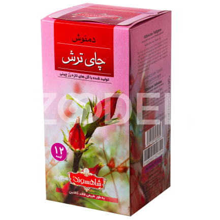Herbal Tea Hibiscus Tea 12 PCS Shahsavand Zarrin