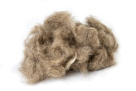 Wool Fiber - Light Brown Color, For Automobile Formed Insulation - Shokooh Sanat Varna Company