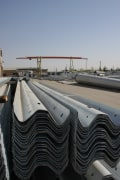 Galvanized Guardrails - To Prevent Cars Crashing & Distracting From The Road - Ruein Saz Arak