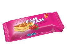 "Layered Sponge Cake With Cream - ""Pam Pam"" Brand - ""Minoo"" Company"