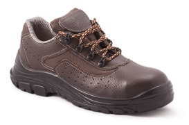 Leather rima safety shoe