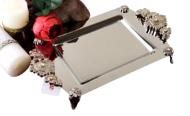 Steel Tray Model Parvaneh - Rectangle - Negar Steel Brand - Cod: 502
