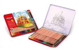 Colored Pencils - 24+3 Colors - Metal box - 3022