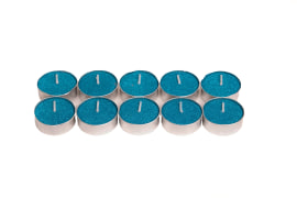 Candle with Glitter - Color: Turquoise - CBM - Cod: 2380