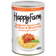 Spaghetti Sauce with Soy Bean and Mushroom - 420 g Can - Happy Farm Brand