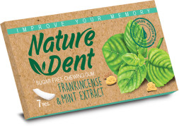Chewing Gum - Natural - Frankincense & Mint Extract - Sugar Free - 7 Pcs - NatureDent Brand