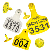Livestock Ear Tag - Visual, For Identification, Electronic Marking & Information Management of Livestock - Tapco Brand