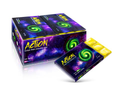 "Chewing Gum - Coated, Sugar Free Apple & Spearmint Flavor - 10 pcs - Big Bang Series ""Draco"" - Action Brand"