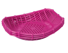 Basket For Bread And Vegetables - Plastic - Oval - Limon Brand