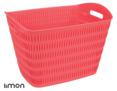 Laundry Basket - Plastic - Rectangular - Bamboo Design - Limon Brand - Model 139400