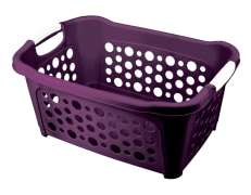 Laundry Basket - Plastic - Rectangular - Short - Limon Brand - Model 116235