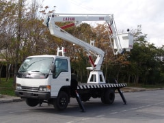 Articulated Truck-mount lift (AL1400) - fiberglass basket - Lajvar Company