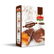 Cake Powder with Chocolate-Vanilla Flavor & Chocolate Coating - 500 gr - Amoon