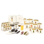 Kitchenware Set of 24 Pcs - Square Shaped Vanilla Golden Color - Limon Brand