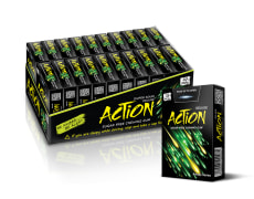 Chewing Gum - Sugar Free, Coated, Sour Apple Flavor - 18 pcs - Awake Series - Action Brand