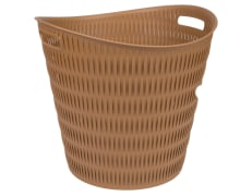 Laundry Basket - Plastic - Round - Limon Brand -                                          Model 1400 - Bamboo Design