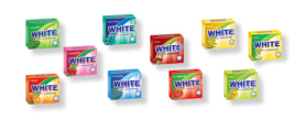 "Chewing Gum (Sugar Free) - Different Flavors - ""White"" Brand - Minoo Company"