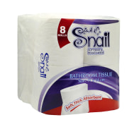 One Pack Of Eight White Toilet Tissues,Snail Brand