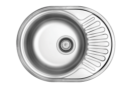 "Sink - Stainless Steel Material, Fancy, Single Bowl, With Siphon, Built In Type - Model: 157 - ""Can"" Brand"