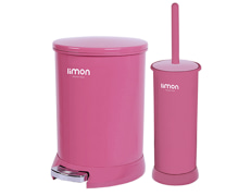 Trash Can And Toilet Brush - Plastic - Limon Brand - Model 129840