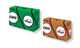 "Chewing Gum - Mint & Cinnamon Flavor - 6 Pcs Pack - ""Chic"" Brand - Minoo Company"
