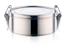 Lunch Box - Steel - Single Compartment, Small Size 65*140 - Model H279 - Negar Steel Brand