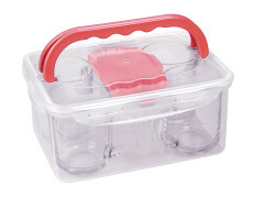 Tea Set In Plastic Box With Handles - 4 Persons - Limon Brand