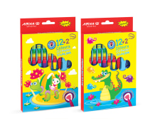 Oil Pastel - 12+2 Colors - Cardboard Package - Arya Company - 2027