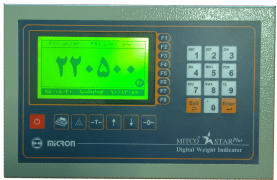 Weight Indicator - Compatible With Laser Printer & Digital Junction - Model : Star Plus - Micron Towzin Company