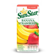 Strawberry Banana Juice Classic Package 200cc, Sanstar