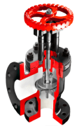 "cast iron Stop Valve - 90 Degree - Size: 7 "" - Raddar"