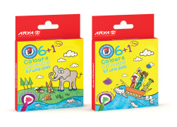 Oil Pastel - 6+1 Colors - Cardboard Package - Arya Company - 2029