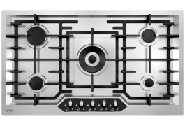 "Gas Cooker Hob - Built In Type, Steel Material, 5 Burner, With Thermocouple & Stainless Steel Cover - Model: 530M - ""Can"" Brand"